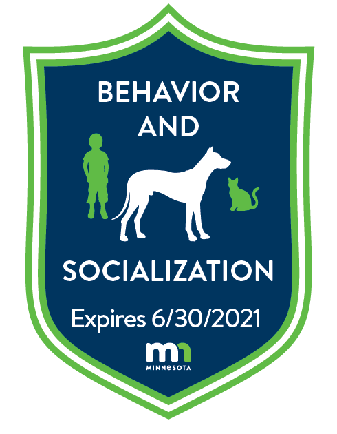 Behavior and Socialization Badge