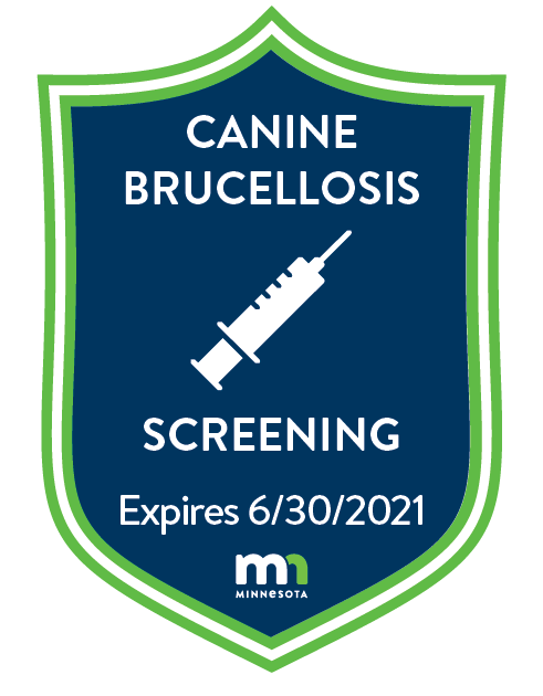 Canine Brucellosis badge