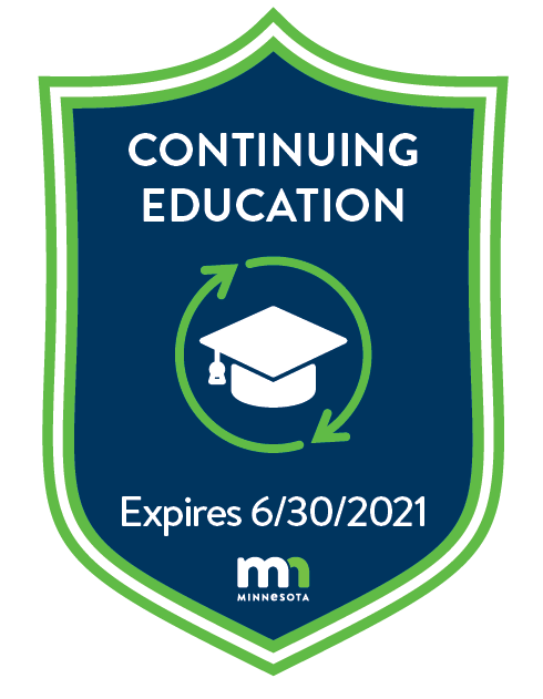 Continuing Education badge