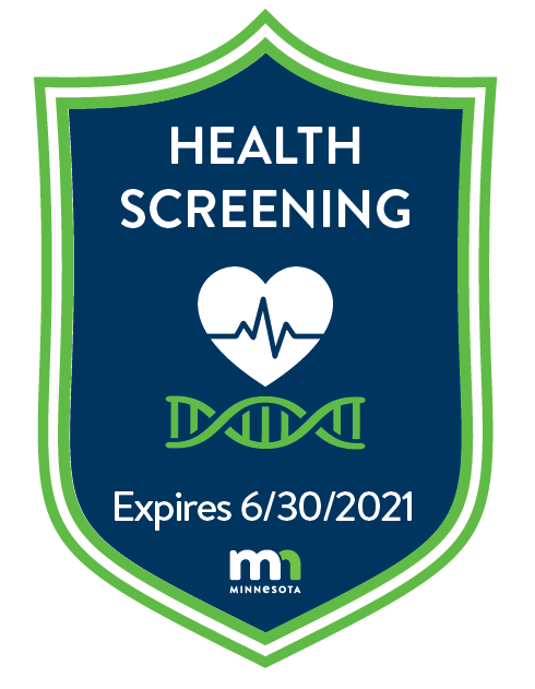 Health Screening Badge
